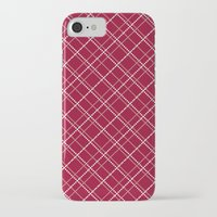 burgundy iPhone & iPod Cases featuring Burgundy Pattern by Christina Rollo