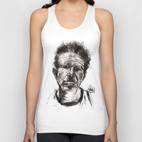 tom waits Tank Tops featuring Tom Waits Bad As Me  by b_ethany