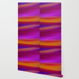 PURPLE AURORA - Abstract Sky Oil Painting Wallpaper
