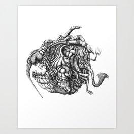 Chaos Head Art Print