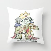 knight Throw Pillows featuring knight by Christofferson