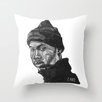 rap Throw Pillows featuring Rap God by ZARE