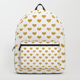 Love 2018 White - Golden heart Backpack