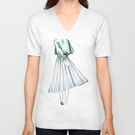 Swishy Skirt Unisex V-Neck