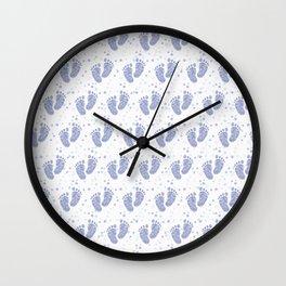 Baby feet background 7 Wall Clock