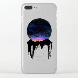 Mountain Sunset II Clear iPhone Case