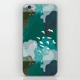 M+M Emerald Forest Bird's Eye View by Friztin iPhone Skin