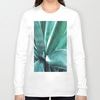 cactus Long Sleeve T-shirts featuring Cactus by Alexandra Str