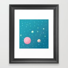 Brain Planet (8bit) Framed Art Print