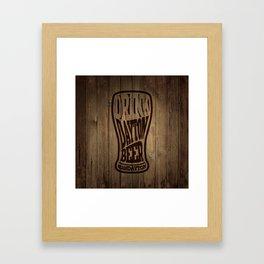 Drink Dayton Beer Framed Art Print