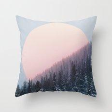 Peach Sunrise Throw Pillow
