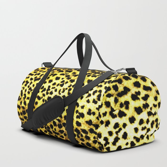 Leopard Print Animal Wallpaper Duffle Bag