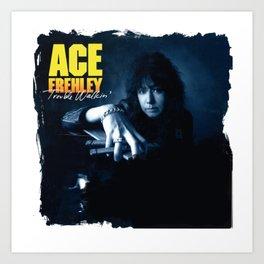 ACE FREHLEY TROUBLE WALKIN Art Print