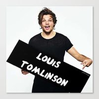 louis tomlinson Canvas Prints featuring Louis Tomlinson by girllarriealmighty