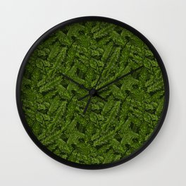 Redwood Leaves Summer Green Wall Clock