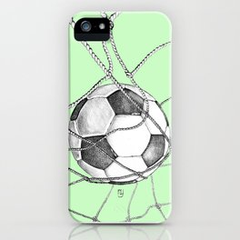 Goal in green iPhone Case