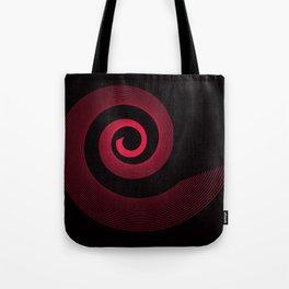 Red black spirale 5 Tote Bag