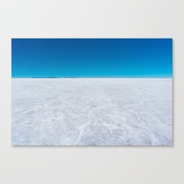 Wide Open Spaces, Salar de Uyuni Salt Flat, Bolivia Canvas Print