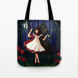 A Dangerous Dance, Red Hood And The Wolf Tote Bag