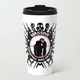 Massive GPX Gorilla Gun Logo Travel Mug