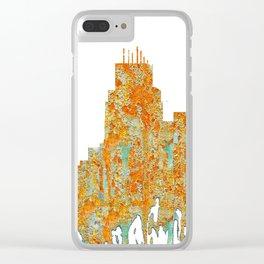 Durham,NC Skyline - Rust Clear iPhone Case