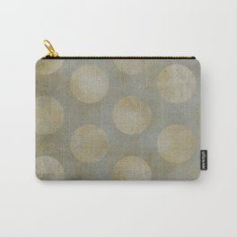 Grey on Grey Dots Carry-All Pouch