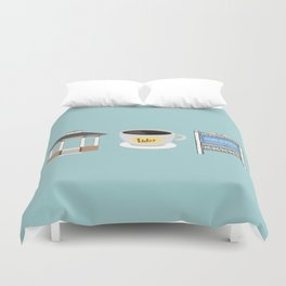The Town of Stars Hollow Duvet Cover