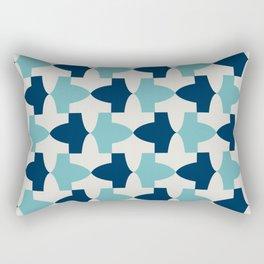 Alhambra Motif Blue Palette Rectangular Pillow