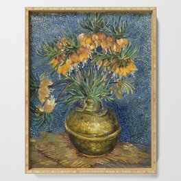 Imperial Fritillaries in a Copper Vase by Vincent van Gogh Serving Tray