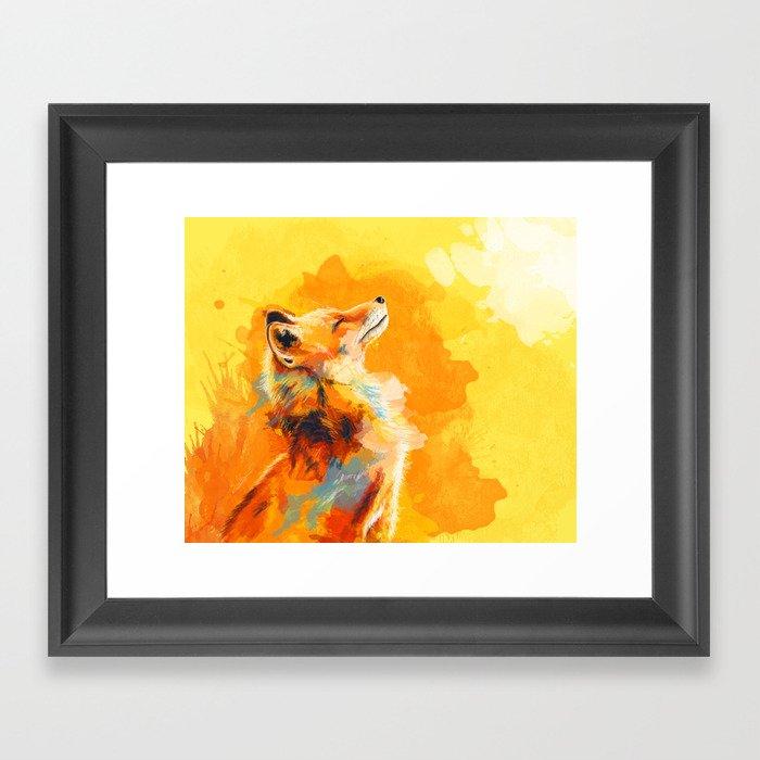 Blissful Light - Fox portrait Gerahmter Kunstdruck