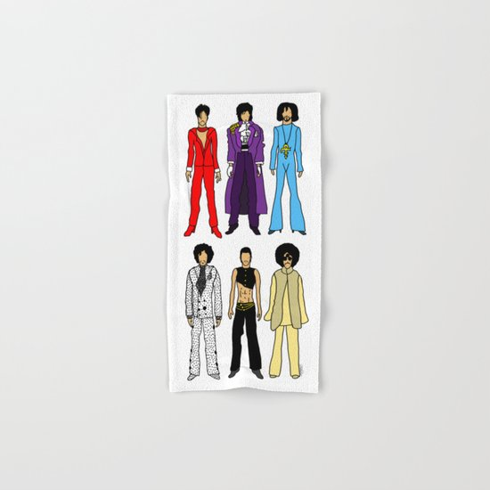 Outfits of Prince Fashion on White Hand & Bath Towel
