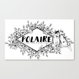 Polaire Siberian Huskies Canvas Print