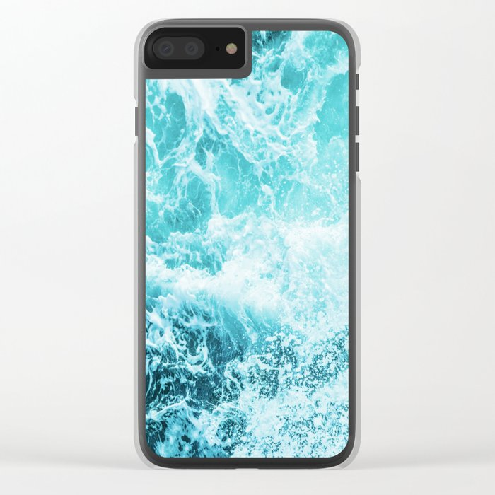 Perfect Sea Waves Clear iPhone Case