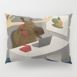 Maurice, the moose who wanted to work in an office Pillow Sham