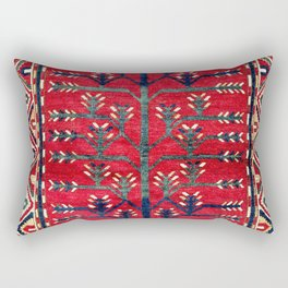 Tree Kazak Southwest Caucasus Rug Print Rectangular Pillow