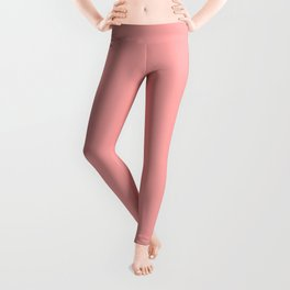Plain Coral Pink Summer Color - Mix & Match with Simplicity of Life Leggings