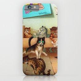 "'Whoa ... so that's coffee!"" Cat Humorous Hi-jinks Print iPhone Case"