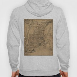 Vintage Map of The New England Coast (1771) Hoody