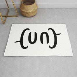 Ambigram Cunt Rug