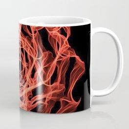 Fire Floral Design Coffee Mug