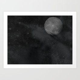 Up The Moon Art Print