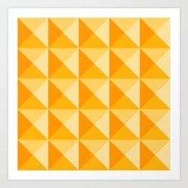 Geometric Prism in Sunshine Yellow Art Print