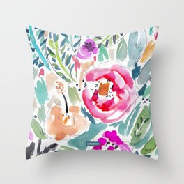 Walk in the Park Floral Throw Pillow