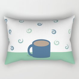 Teal Aromas Rectangular Pillow