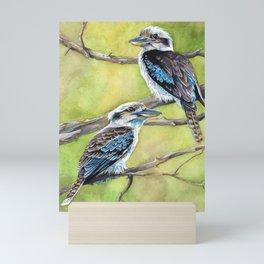 Kookaburras Mini Art Print