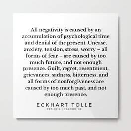 4  |Eckhart Tolle Quotes | 191024 Metal Print
