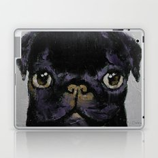 Black Pug Laptop & iPad Skin