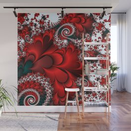 Red Sweetheart Fractal Wall Mural