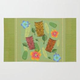 Bamboo Tiki Room Pattern Rug