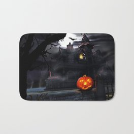 Happy Screaming Halloween Bath Mat